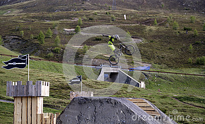 Mtb jump Editorial Photography