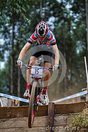 MTB Rider Race Flight Step  Editorial Image