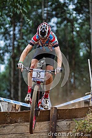 MTB Rider Race Flight Step Editorial Image
