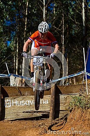 MTB Rider Race Flight Step  Editorial Photography