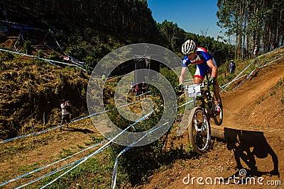 MTB Rider Race Ramp Flight  Editorial Photography