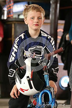 Mtb rider teen. Editorial Stock Photo