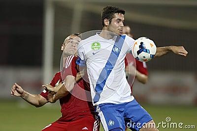 MTK Budapest vs. DVSC OTP Bank League football match Editorial Photo
