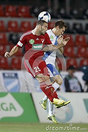 MTK Budapest vs. DVSC OTP Bank League football match Editorial Stock Photo