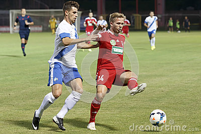 MTK Budapest vs. DVSC OTP Bank League football match Editorial Photo