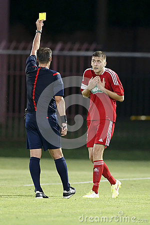 MTK Budapest vs. DVSC OTP Bank League football match Editorial Image
