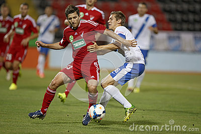 MTK Budapest vs. DVSC OTP Bank League football match Editorial Photography