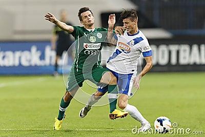 MTK vs. Gyor OTP Bank League football match Editorial Image