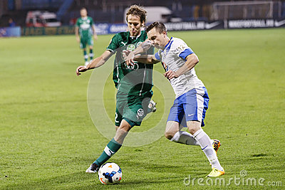 MTK vs. Gyor OTP Bank League football match Editorial Image