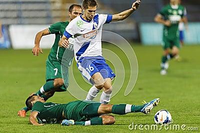 MTK vs. Gyor OTP Bank League football match Editorial Photography