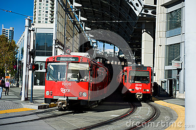 MTS Trolley Editorial Stock Photo