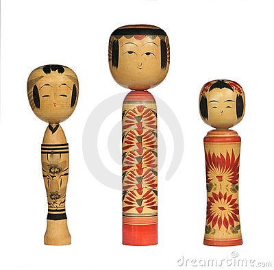 Muñecas de Kokeshi