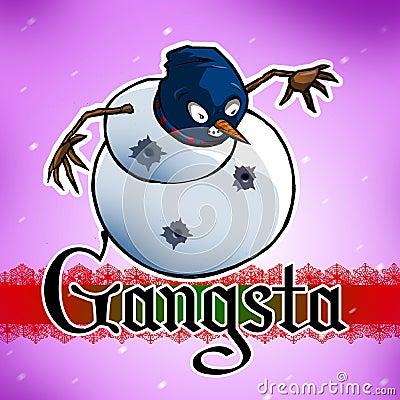 Muñeco de nieve de Gangsta