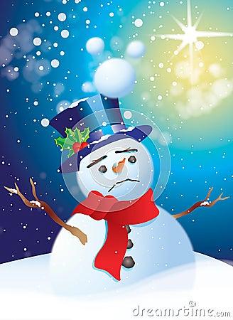 Muñeco de nieve triste