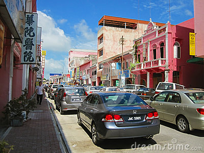 Muar Town Street View Editorial Image