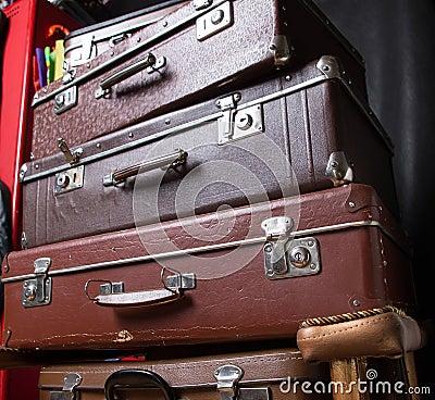 Mucchio delle valigie