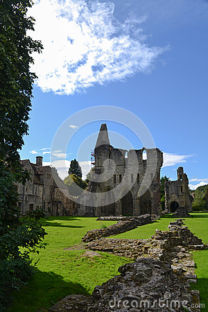 Much Wenlock Priory in Shropshire, England