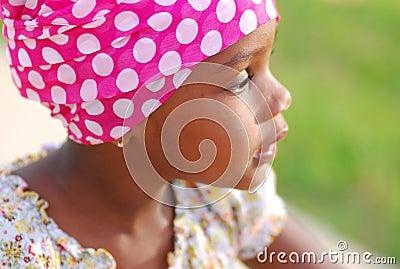Muchacha africana dulce