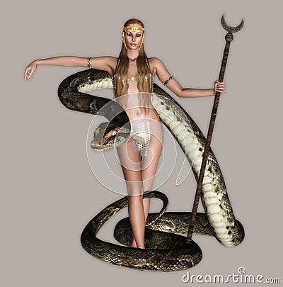 Muchacha con la serpiente