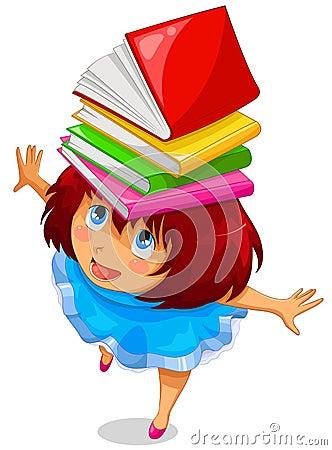 Muchacha con los libros