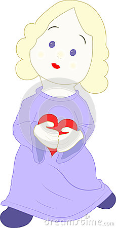 Muchacha con un corazón
