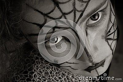 Muchacha de la araña
