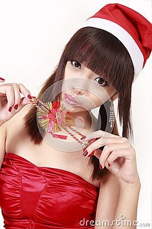 Muchacha de la Navidad