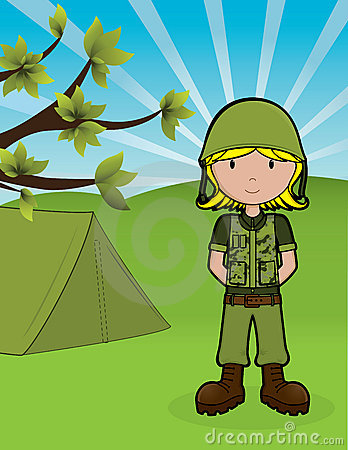 Muchacha del ejército