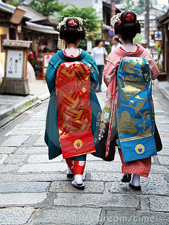 Muchachas del geisha