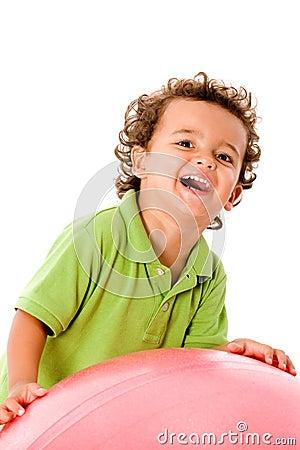Muchacho con la bola
