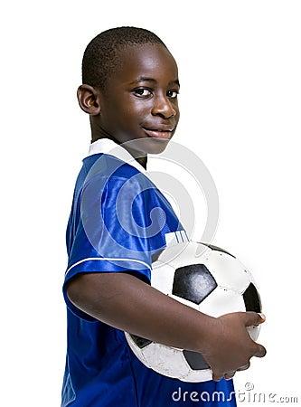 Muchacho del fútbol