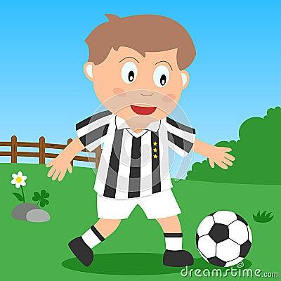 Muchacho del fútbol en el parque