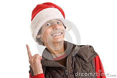 Muchacho divertido de la Navidad