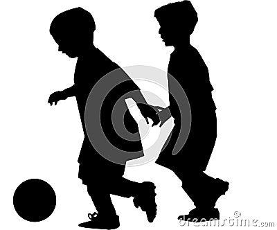 Muchachos que juegan a fútbol