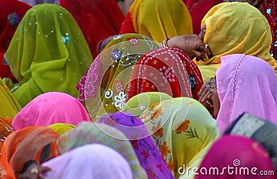 Muchedumbre colorida Foto de archivo editorial