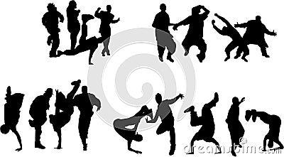 Muchedumbre de baile de la gente joven