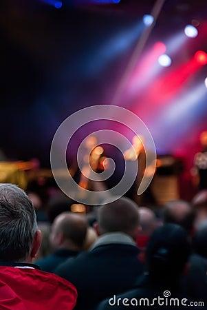 Muchedumbre del concierto