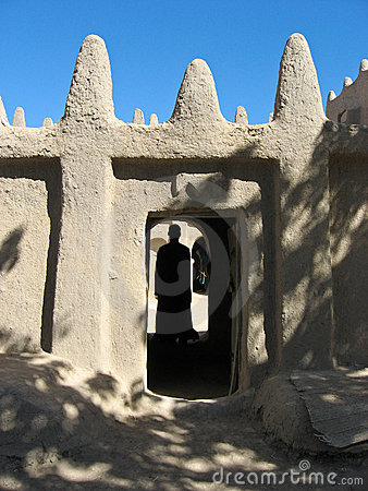 Mud brick building, Mali (Africa).