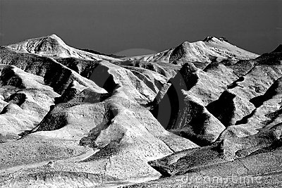 Mud hill landscape BW