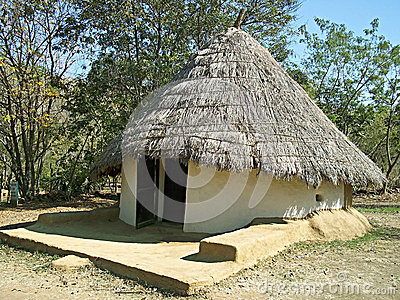 Mud house in village