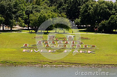 Mud Island River Park Flower Sign at Mud Island Editorial Stock Photo