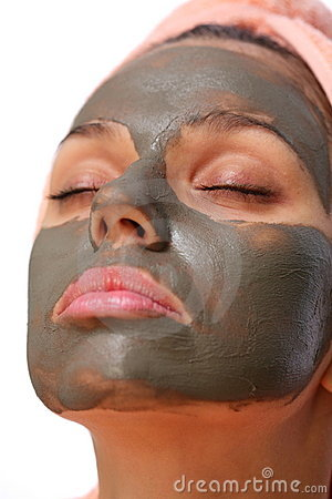 Mud Mask. Royalty Free Stock Photo - Image: 16355165