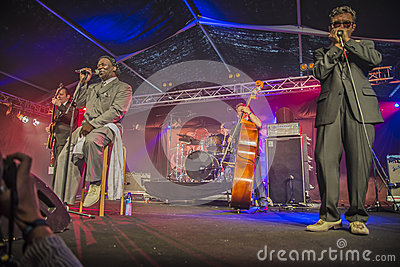 Mud morganfield, usa, notodden blues festival Editorial Stock Photo