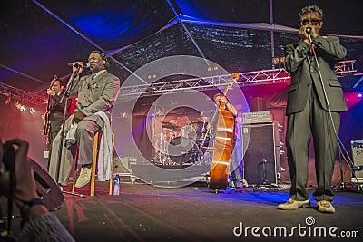Mud morganfield, usa, notodden blues festival Editorial Stock Photo
