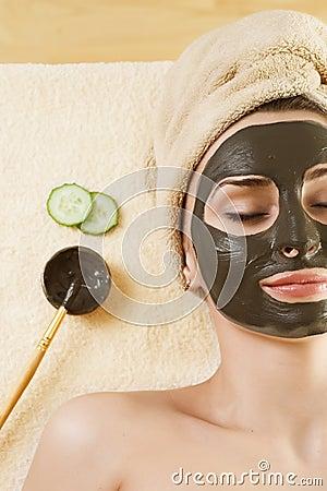μάσκα προσώπου mud spa