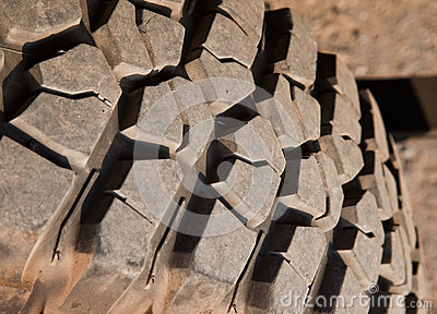 Mud terrain tire.