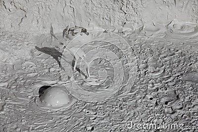 Mud volcanoes and mud cones