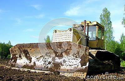 Muddy Bulldozer Blade