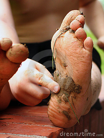 Muddy Foot Feet