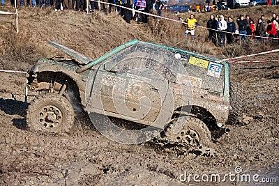 Muddy off-road Editorial Image
